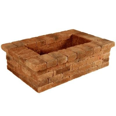 RumbleStone 63 in. x 17.5 in. x 42 in. Rectangle Concrete Planter Kit in Sierra Blend