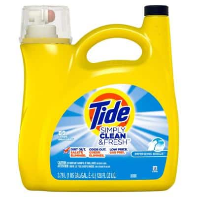 128 fl. oz. Simply Clean and Fresh Refreshing Breeze Scent Liquid Laundry Detergent (89-Loads)