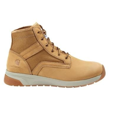 Men's Force Series 5 inch Work Boots - Soft Toe - Wheat - Size 10.5(M)