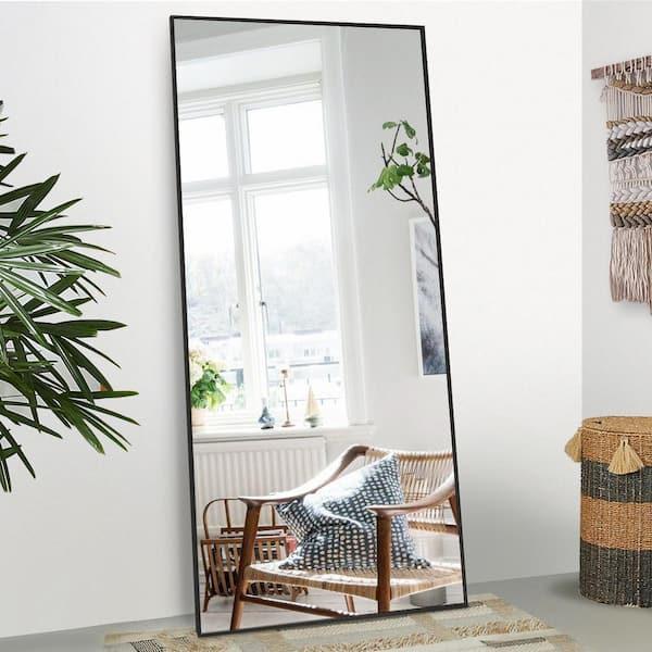 Wall Mirror Max Black 80, Wall Leaning Full Length Mirror