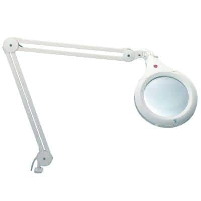 7 in. White Ultra Slim Magnifying Lamp