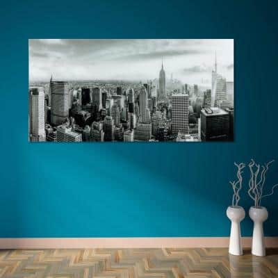 """My New York"" Frameless Free Floating Tempered Art Glass by EAD Art Coop Wall Art"