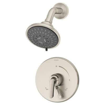 Elm Single Handle 5-Spray Round Shower Faucet in Satin Nickel (Valve Included)