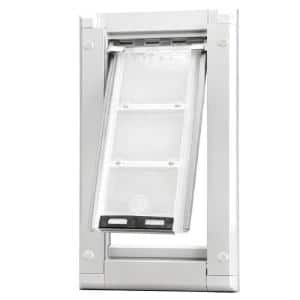 6 in. x 11 in. Small Single Flap for Walls Endura Flap Pet Door with White Aluminum Frame