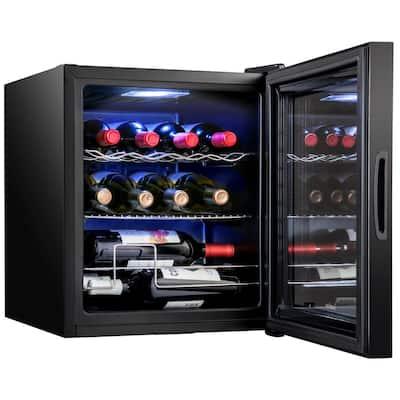 17.3 in. 12-Bottle Compressor Square Freestanding Wine and Beverage Cooler