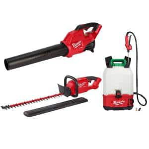 M18 FUEL 120 MPH 450 CFM 18-Volt Lithium-Ion Brushless Cordless Handheld Blower/Hedge Trimmer and Sprayer Kit