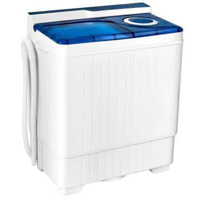3.5 cu.ft. 26 lbs. Traditional Portable Semi-automatic Top Load Washer in Blue with UL Certified
