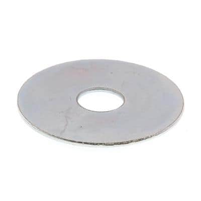 3/8 in. x 1-1/2 in. O.D. Zinc Plated Steel Fender Washers (100-Pack)
