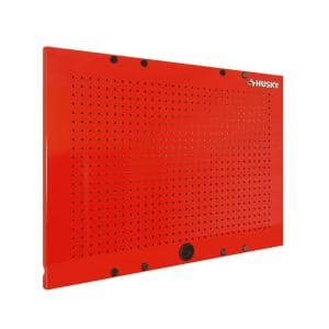 36 in. W x 26 in. H Steel Pegboard Set in Red for Ready-to-Assemble Steel Garage Storage System