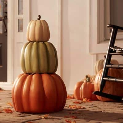 26.5 in. Fall 3-Piece Stacked Pumpkins