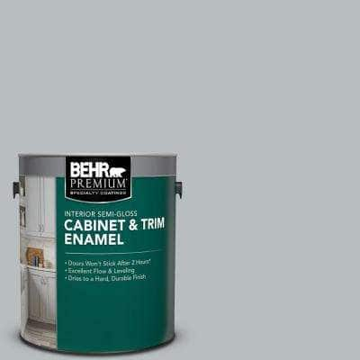 1 gal. #PPU18-05 French Silver Semi-Gloss Enamel Interior Cabinet and Trim Paint