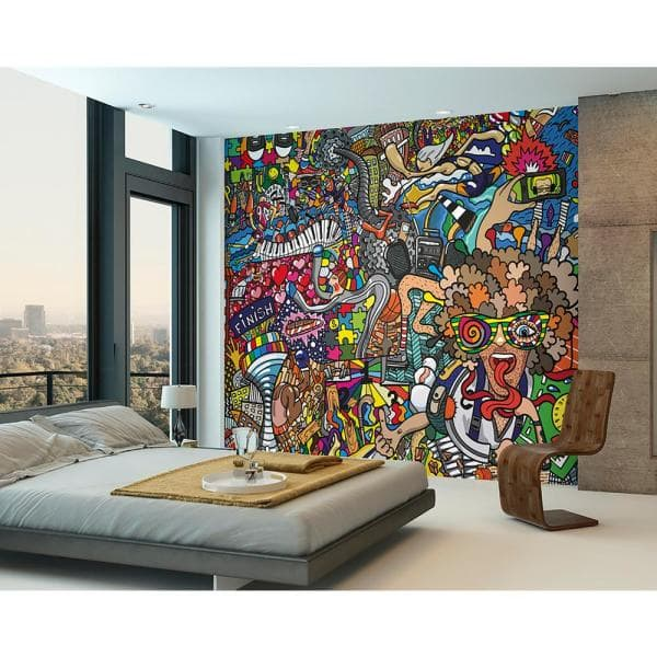 Ohpopsi Sports Illustrations Wall Mural Wals0317 The Home Depot