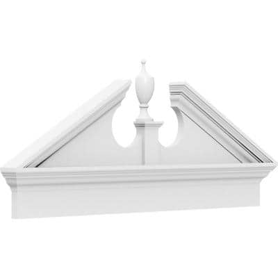 2-3/4 in. x 80 in. x 26-7/8 in. (Pitch 6/12) Acorn Architectural Grade PVC Combination Pediment Moulding