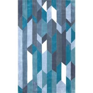 Thelma Contemporary Blue 8 ft. x 10 ft. Area Rug