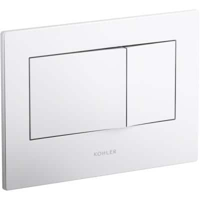 Bevel Flush Actuator Plate, White