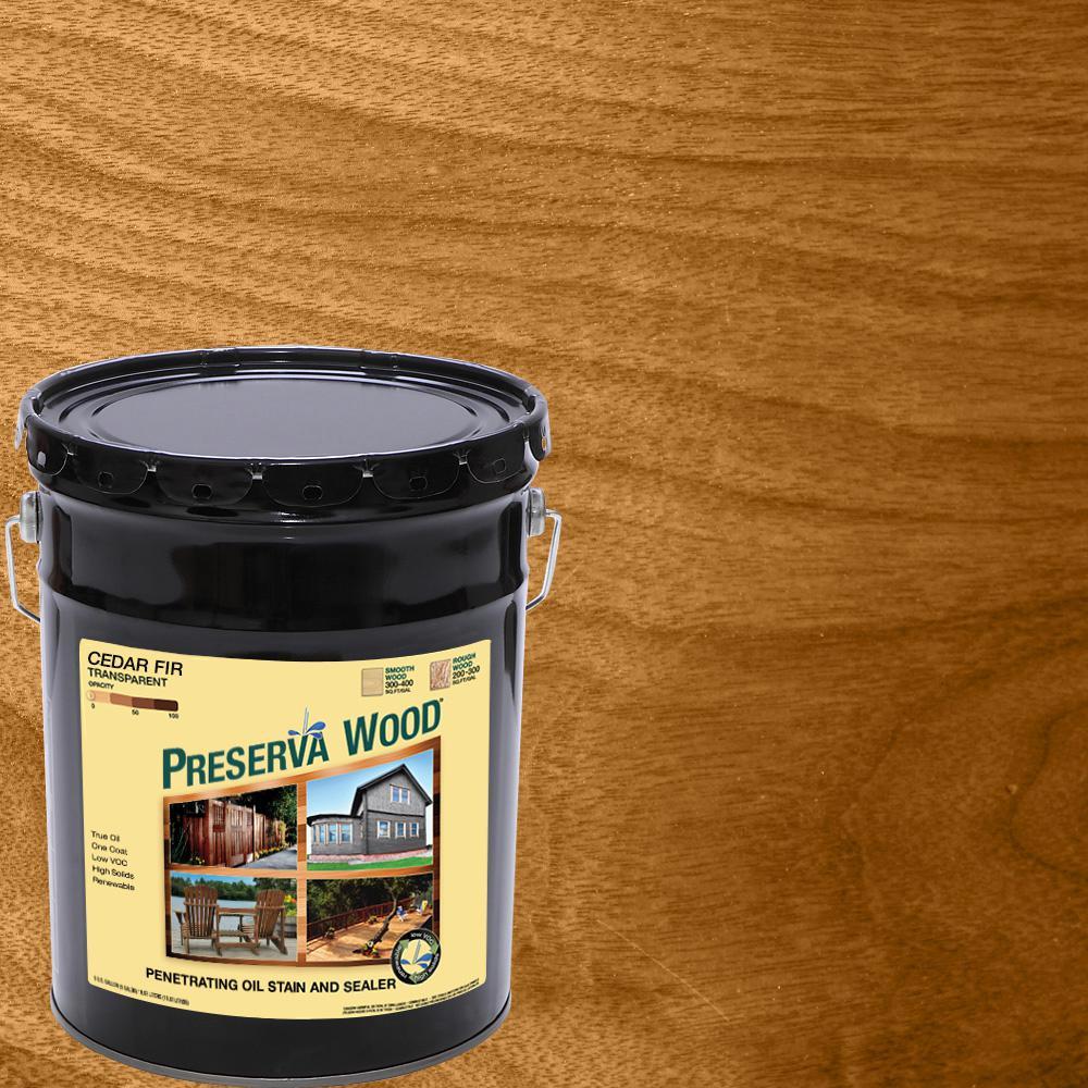 5 gal. Oil-Based Cedar-Fir Penetrating Exterior Stain and Sealer