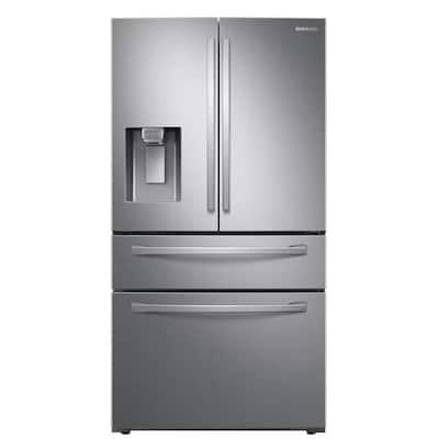 22.4 cu. Ft. Food Showcase 4-Door French Door Refrigerator in Fingerprint Resistant Stainless Steel, Counter Depth