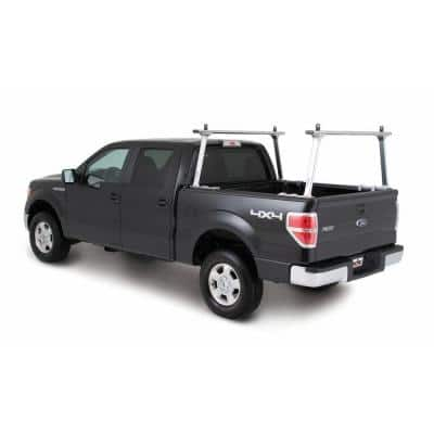 TracONE Universal Truck Bed Ladder Rack 800 lbs. Capacity Silver Powder Coat Finish