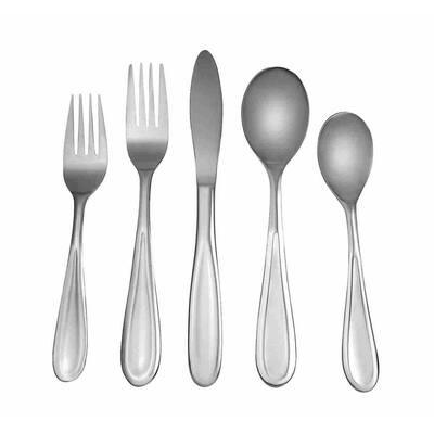 Ellis 20-Piece Matte 18/0 Stainless Steel Flatware Set (Service for 4)