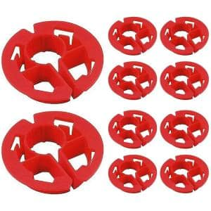 3/4 in. Metal Stud Insulator for Piping, Wiring, Cable, Running Through Beam; PEX Copper Cushion; Polyethylene (10-Pack)