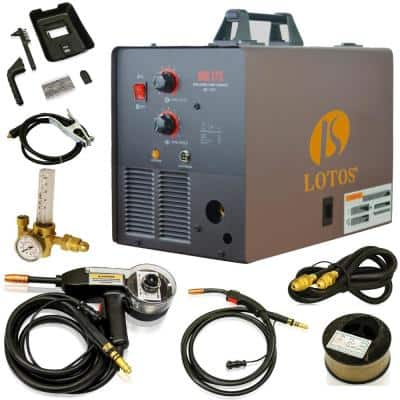 175 Amp MIG Wire Feed Welder, Flux Core Welder and Aluminum Gas Shielded Welding with included Spool Gun, 220V