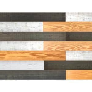 Thermo-treated 1/4 in. x 5 in. x 4 ft. Black Barn Wood Wall Planks (10 Sq. Ft. per 6 Pack)