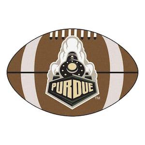 NCAA Purdue University P Logo Brown 2 ft. x 3 ft. Specialty Area Rug