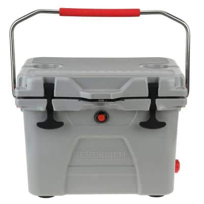 20 Qt. High-Performance Cooler with Lockable Lid in Gray