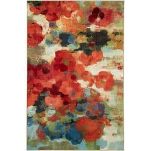 Colorful Garden Multi 5 ft. x 8 ft. Indoor Area Rug