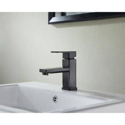 Naiadi Single Hole Single-Handle Bathroom Faucet in Oil Rubbed Bronze