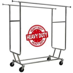 Commercial Grade Heavy Duty Double Rail Rolling Portable Closet (60 in. W x 64 in. H)