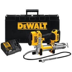 20-Volt MAX Cordless 10,000 PSI Variable Speed Grease Gun, (1) 20-Volt 4.0Ah Battery & Charger