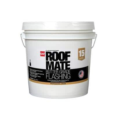 Roof Mate Acrylic Flashing 2 Gal. Light Gray Liquid Wet Patch Elastomeric Sealant for Roof Repairs