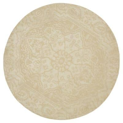 Francesca Cream 8 ft. x 8 ft Round Area Rug