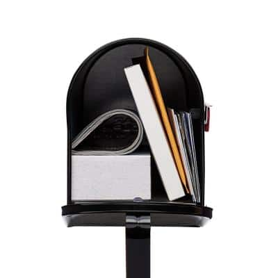 Mailbox-To-Go All-in-One, Medium, Steel Mailbox & Post Combo