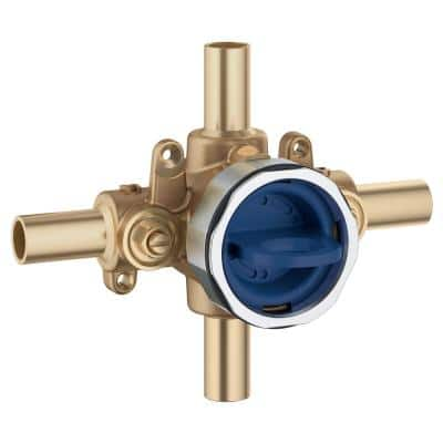 GrohSafe 3.0 Pressure Balance Valve Rough with Flush Plug with Stub-Out Inlets/Outlets with Service Stops
