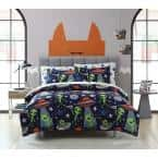 3-Piece Allan the Peace Alien Full Comforter Set