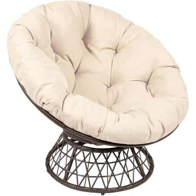 Swivel Brown and Beige with 360° Papasan Chair