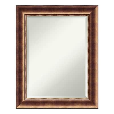 Manhattan 24 in. W x 30 in. H Framed Rectangular Beveled Edge Bathroom Vanity Mirror in Burnished Bronze