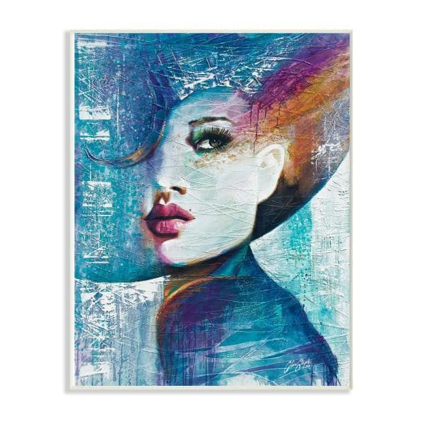 Stupell Industries 12 5 In X 18 Blue Orange Purple And Pink Paint Splatter Glam Fashion By Artist Colin John Staples Wood Wall Art Mwp 477 Wd 13x19 The Home Depot