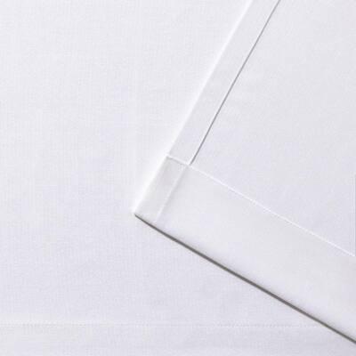 Biscayne White 54 in. W x 120 in L Grommet Top, Indoor/Outdoor Curtain Panel (Set of 2)