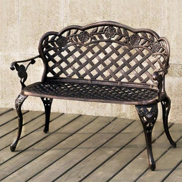Boyel Living 38 6 In Antique Bronze, Antique Garden Bench