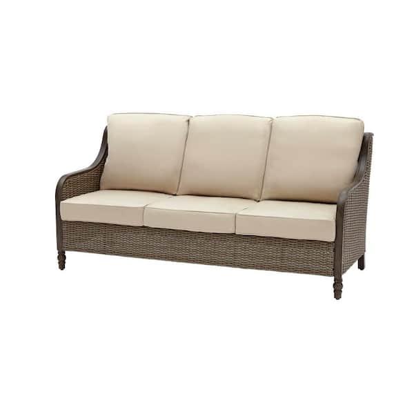 Hampton Bay Windsor Brown Wicker, Sofa Cushion Support Home Depot