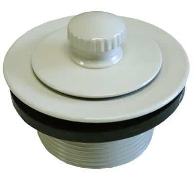 1-1/2 in. Friction Lift Bath Tub Drain with 1-7/8 in. O.D. Coarse Threads, Almond