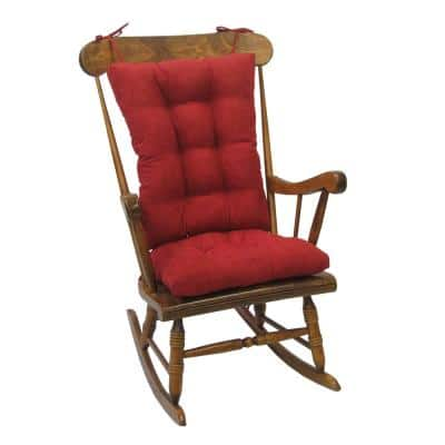 Gripper Twillo Red Jumbo Rocking Chair Cushion Set