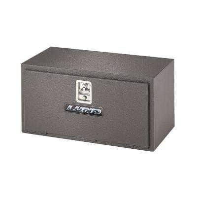 34 in Diamond Plate Steel  Trailer Tongue Truck Tool Box with mounting hardware and keys included, Black
