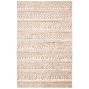 Natura Ivory 4 ft. x 6 ft. Solid Striped Area Rug
