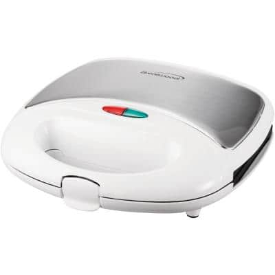 750-Watt White Dual Sandwich Maker