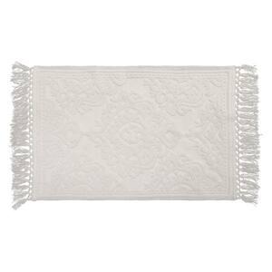 Ricardo Cotton Fringe 21 in. x 34 in. Bath Rug in White