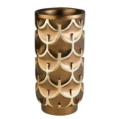 7 in. W x 14.25 in. H Mystic Owl Decorative Vase in Gold